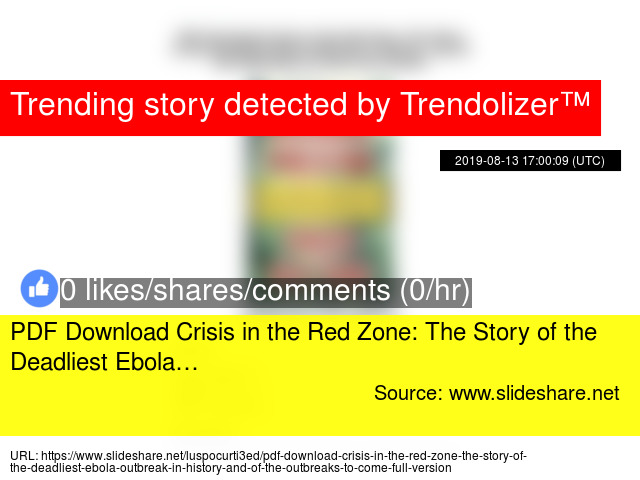 PDF Download Crisis in the Red Zone: The Story of the