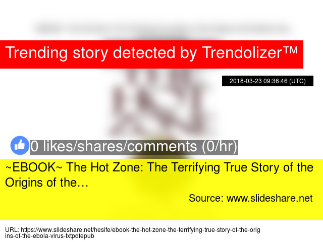 a style critique on the hot zone the terrifying true story of the origins of the ebola virus by rich The cobra event has 12,211 the author of the hot zone, (the true story of the ebola outbreak of a the terrifying true story of the origins of the ebola virus.